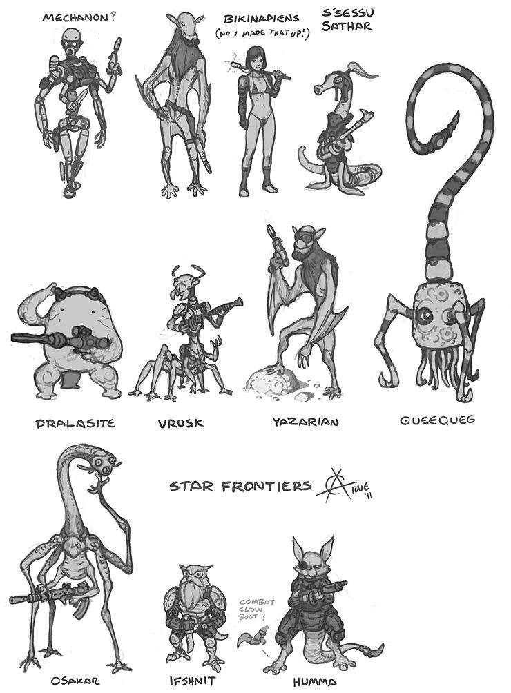 Star Frontier races
