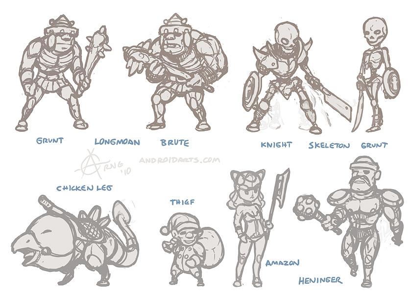Golden Axe rough sketches