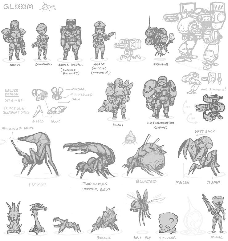 Gloom chibi Quake redesigns