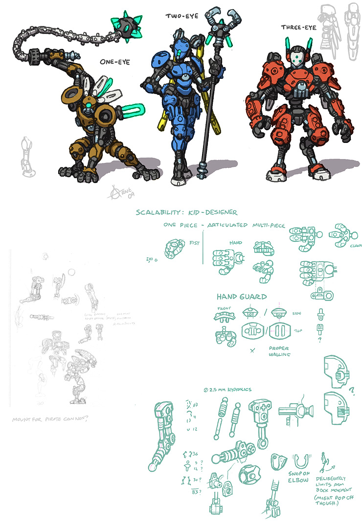 Bionicle lego design concepts