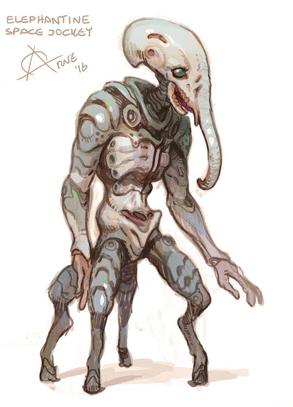 Elephant Jockey from Alien.