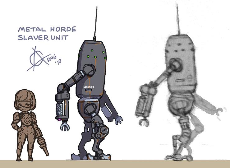 Metal Horde Robot Pinup