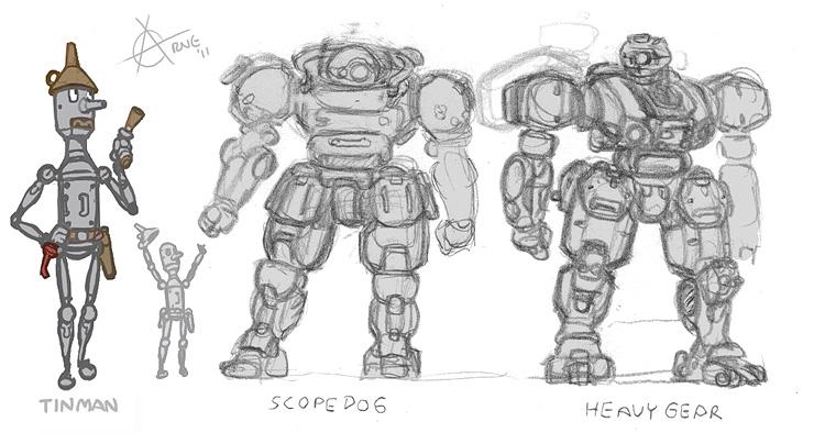 Tinman, Scopedog, HeavyGear