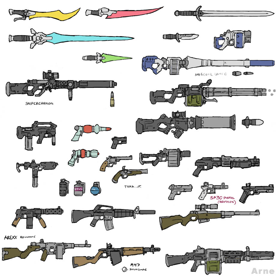 All the weapons from Call of