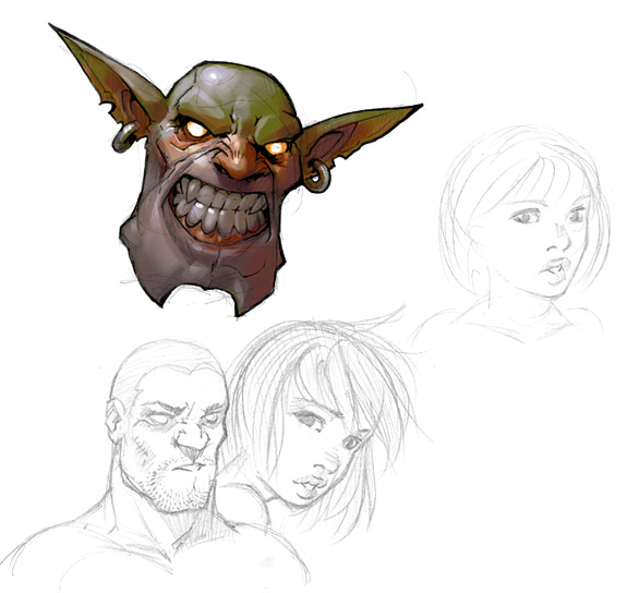 how to draw a demon face