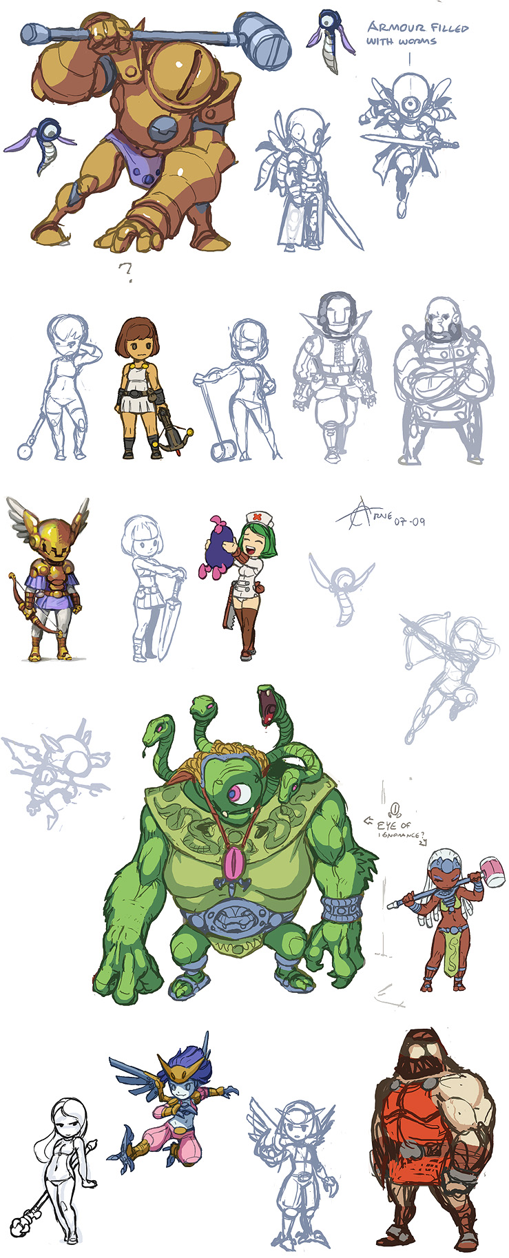 Characters And More Monsters
