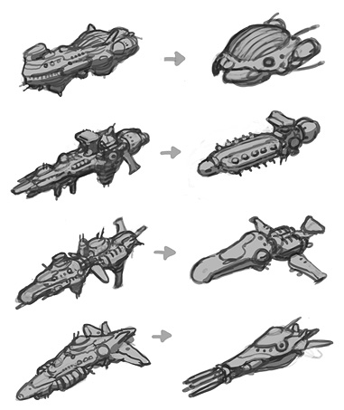 how to draw a realistic spaceship
